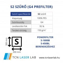 S2 szűrő (G4 prefilter)
