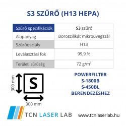 S3 szűrő (H13 HEPA)