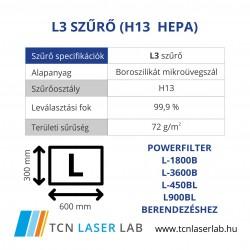 L3 szűrő (H13  HEPA)