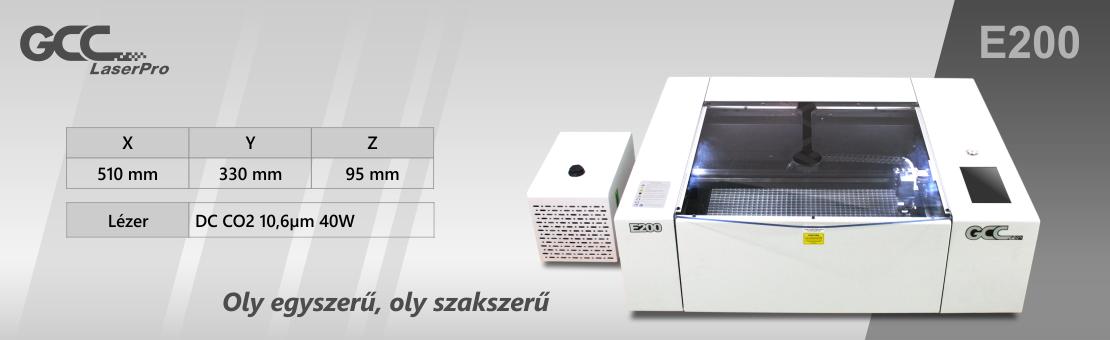 E200 Lézergravírozó és vágógép